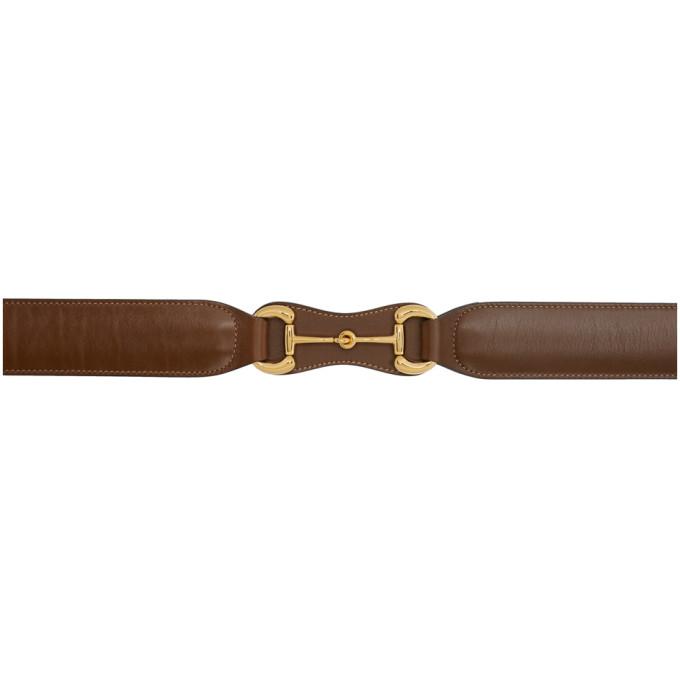 Gucci Ceinture brune Horsebit