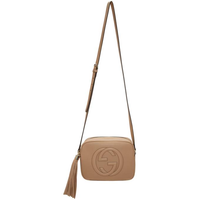 Gucci Tan Small Soho Disco Bag In 2754 Tan