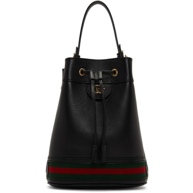Gucci 黑色 Ophidia 水桶包