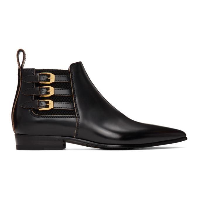 Buy Gucci Black Quebec Ankle Boots online