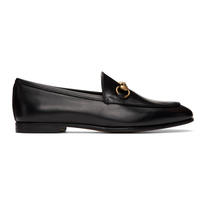 Gucci Brixton Horsebit-detailed Leather Collapsible-heel Loafers In Black