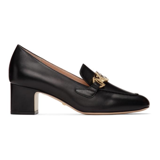 Buy Gucci Black Zumi Mid-Heel Loafers online