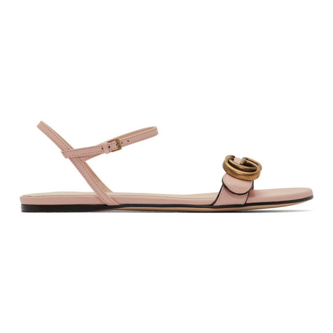 Buy Gucci Pink Leather GG Sandals online