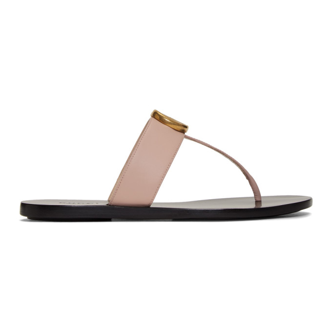 Buy Gucci Pink GG Marmont Sandals online