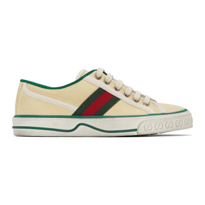 Gucci Low-top Sneakers Kate Canvas Logo Beige In 9361 Beige