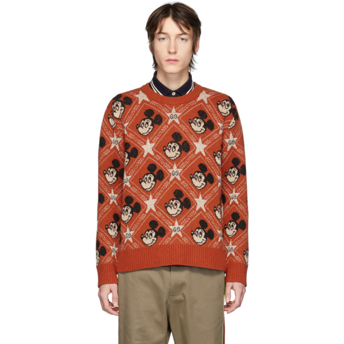 Gucci  GUCCI ORANGE DISNEY EDITION WOOL SWEATER