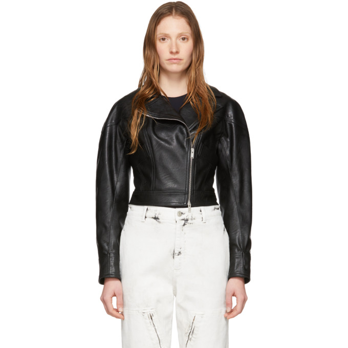 Stella McCartney Stella McCartney Black Alter Leather Biker Jacket
