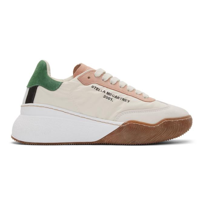 Stella Mccartney 40mm Loop Nylon & Faux Leather Sneakers In Neutrals