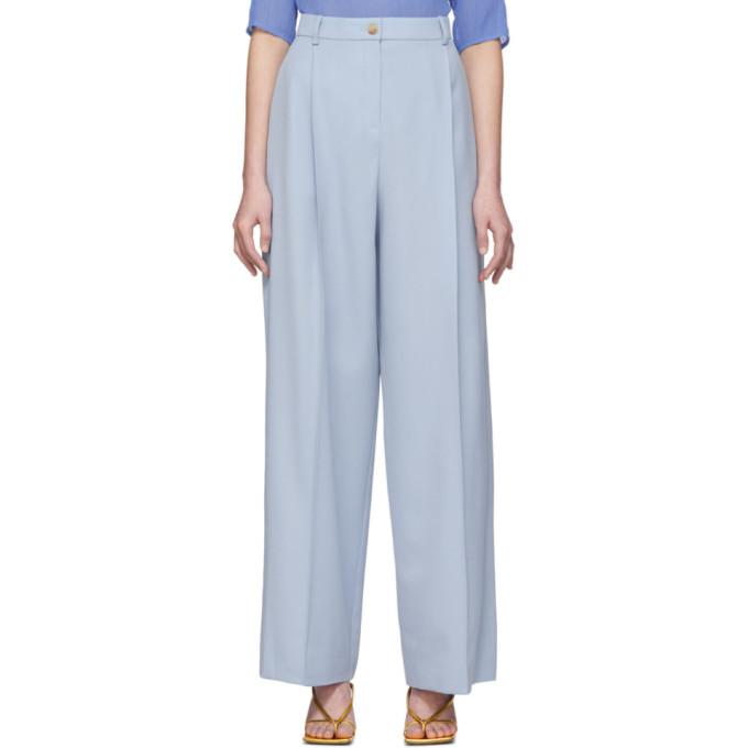 Nina Ricci Pantalon bleu Long