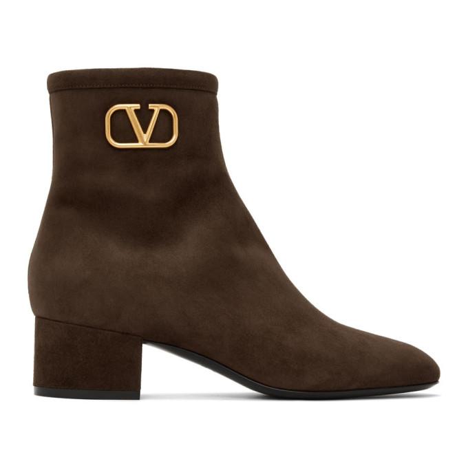 Buy Valentino Brown Valentino Garavani VLogo Boots online