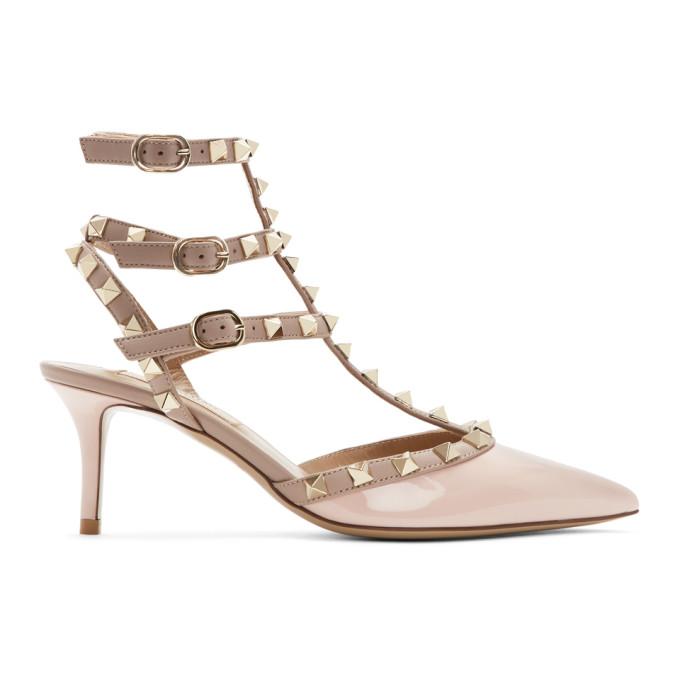 Buy Valentino Pink Valentino Garavani Rockstud Cage Heels online