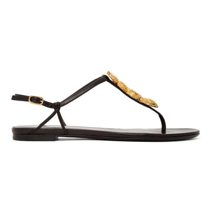 Buy Valentino Black Valentino Garavani Serpent Sandals online