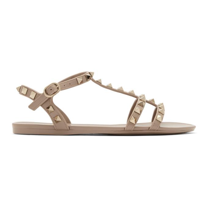 Buy Valentino Pink Valentino Garavani Rockstud Jelly Sandals online