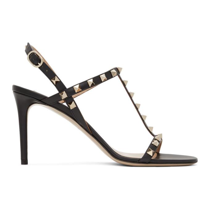 Buy Valentino Black Valentino Garavani Rockstud Slingback Sandals online