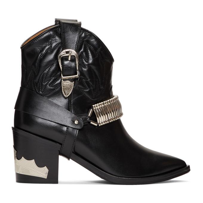 Buy Toga Pulla Black Western Detail Boots online