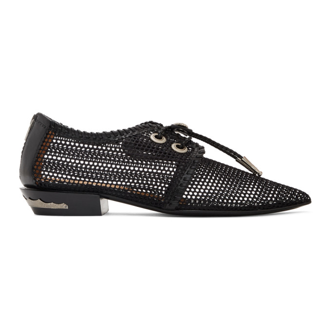 Toga Pulla Flaneurs laces en filet noirs