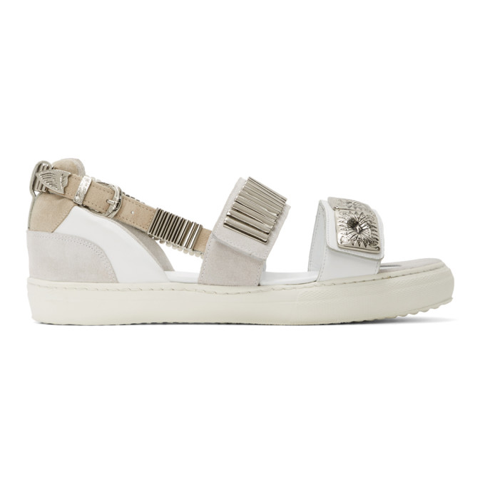 Toga Pulla Sandales blanches Buckles Flat