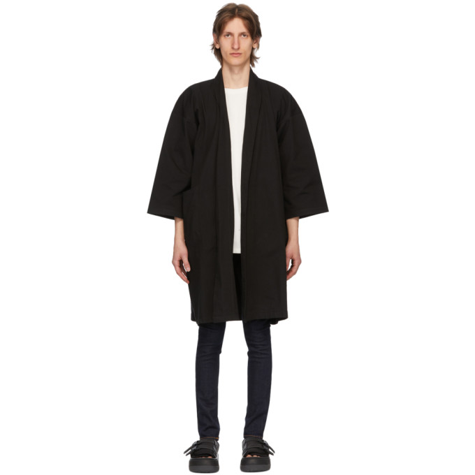 SSENSE Exclusive Black Oxford Overcoat