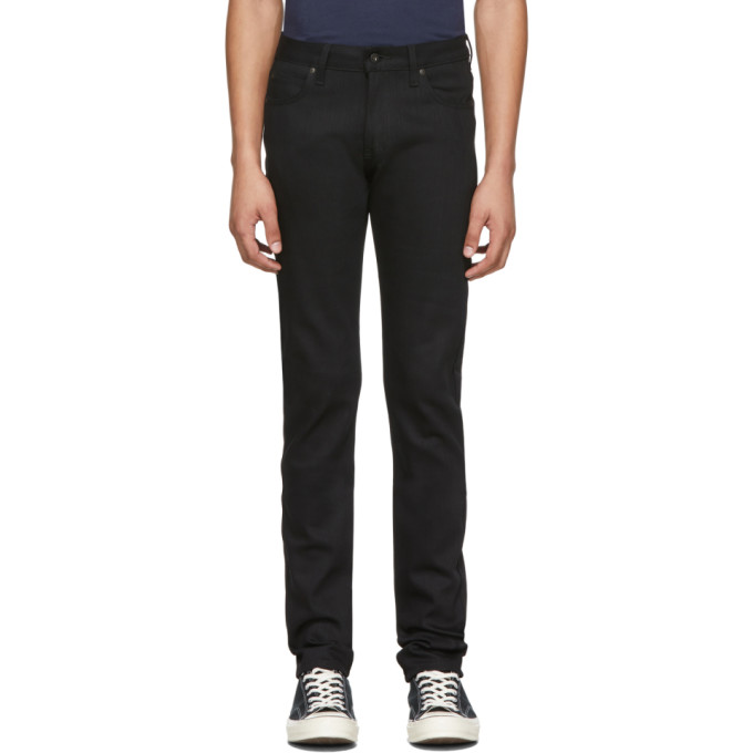 Naked and Famous Denim Jean noir Power Stretch Super Guy