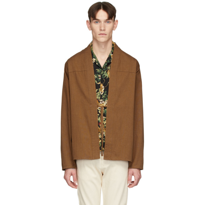 SSENSE Exclusive Brown Kimono Shirt