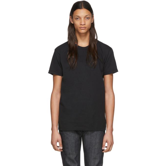 Naked and Famous Denim T-shirt en maille circulaire noir