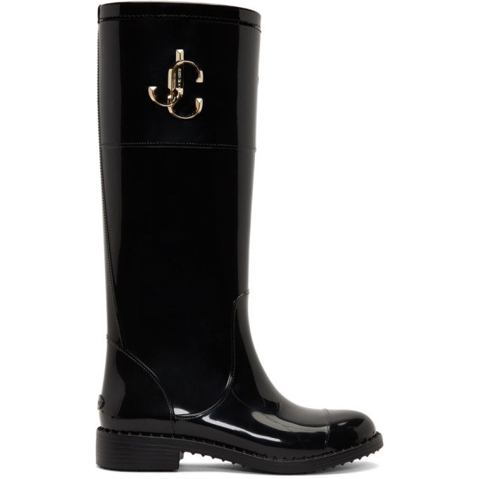 Buy Jimmy Choo Black Edith Tall Boots online