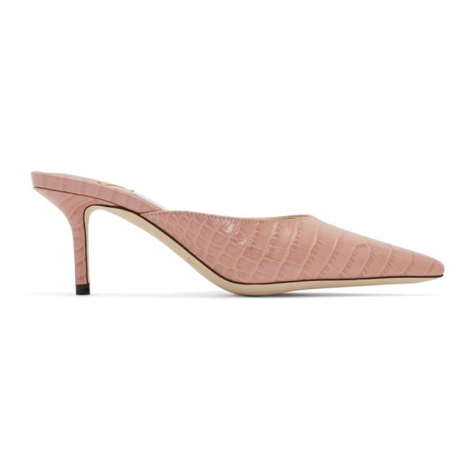 Buy Jimmy Choo Pink Croc Rav 65 Heels online