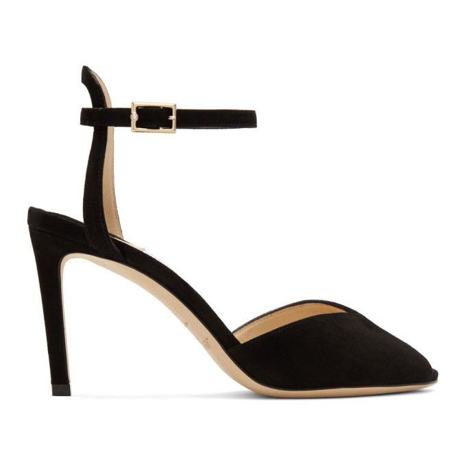 Buy Jimmy Choo Black Suede Sacora 85 Heels online
