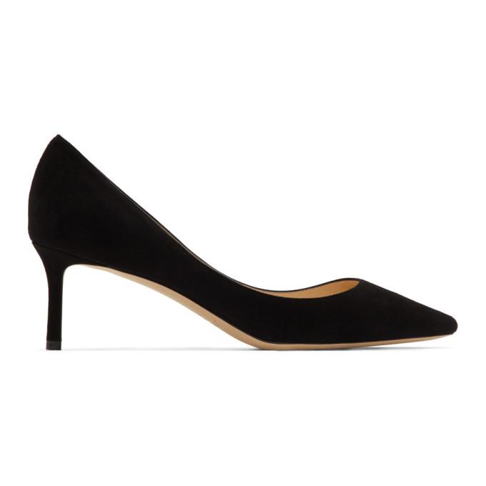 Buy Jimmy Choo Black Suede Romy 60 Heels online