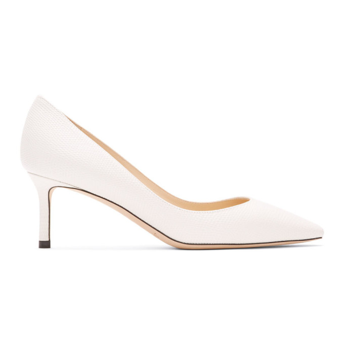Buy Jimmy Choo Off-White Romy 60 Heels online