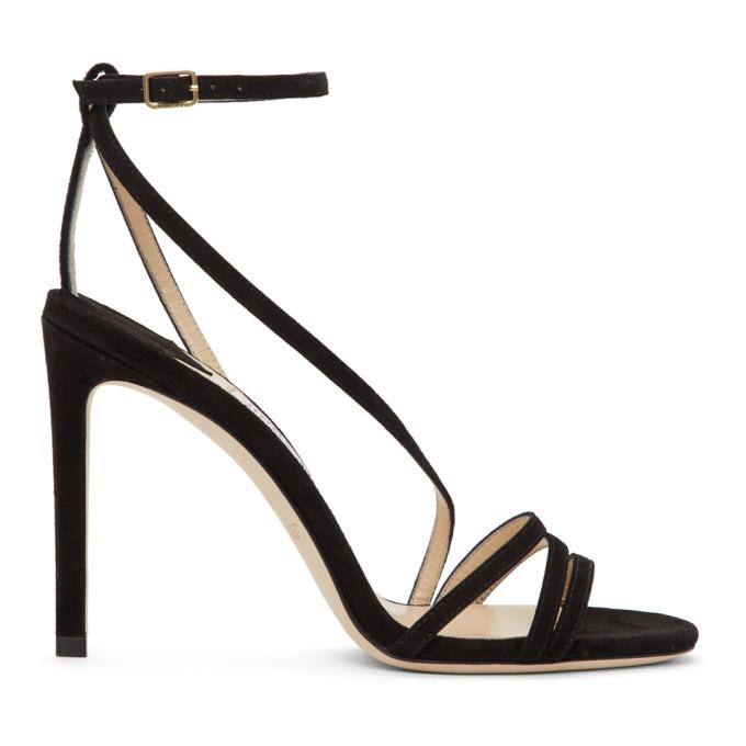 Buy Jimmy Choo Black Suede Tesca 100 Sandals online