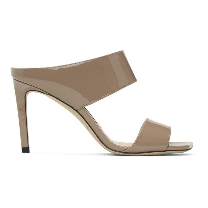 Buy Jimmy Choo Pink Patent Hira 85 Sandals online