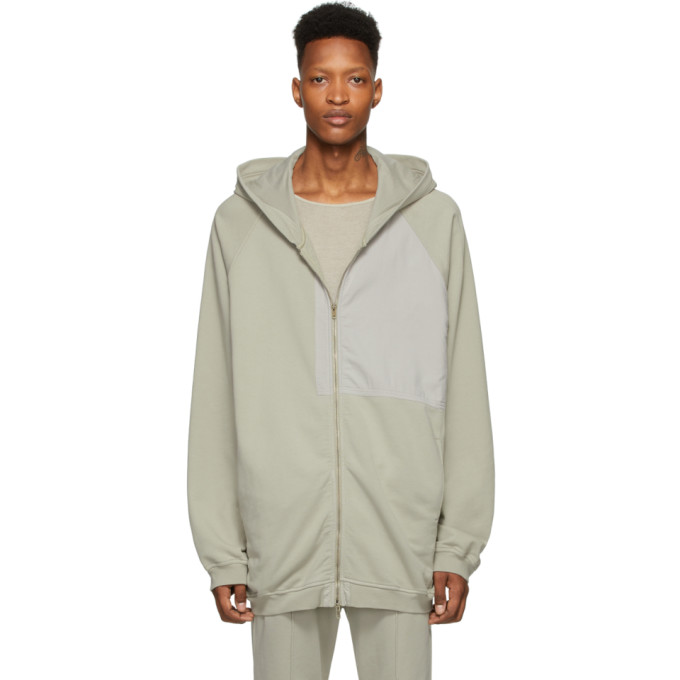 Haider Ackermann Pull a capuche gris Patched