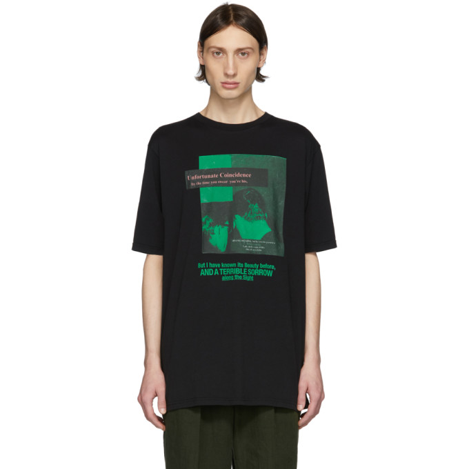 Haider Ackermann ブラック Unfortunate Coincidence T シャツ