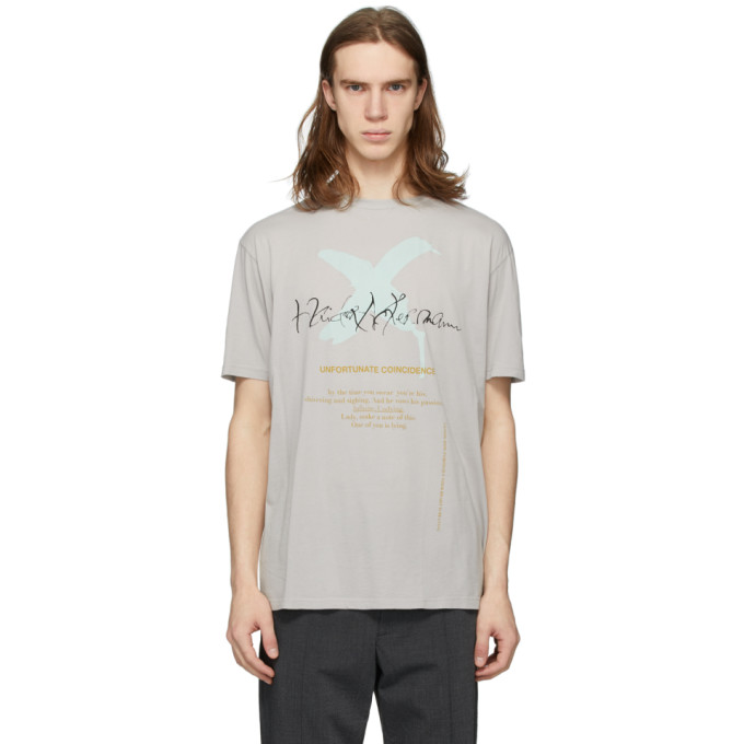 Haider Ackermann グレー Unfortunate Coincidence T シャツ