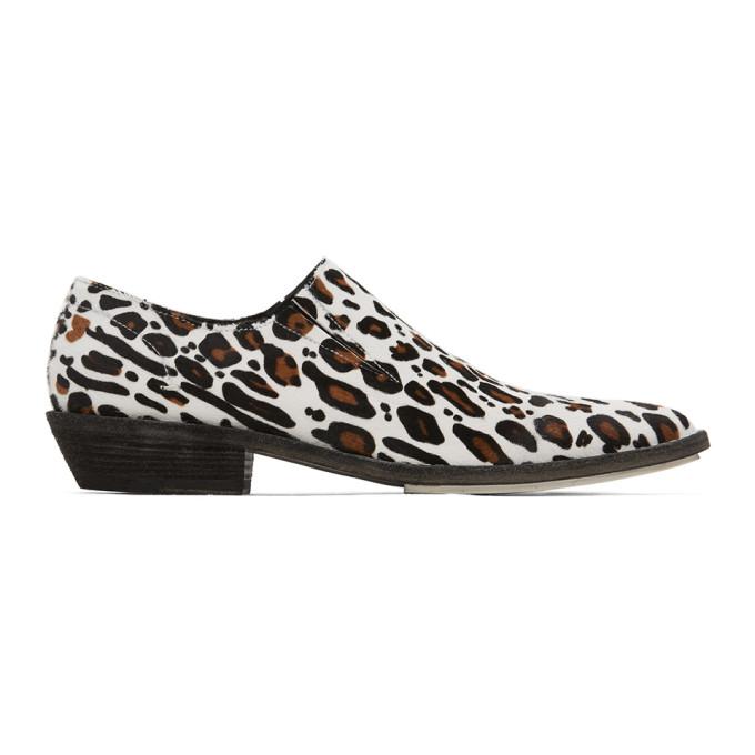Haider Ackermann Flaneurs a motif leopard blancs et bruns Slip-On Derby