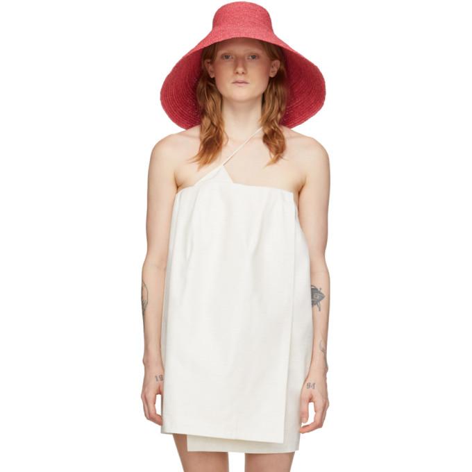 Jacquemus Le Grand Chapeau Valensole Pink Raffia Hat In Fuchsia