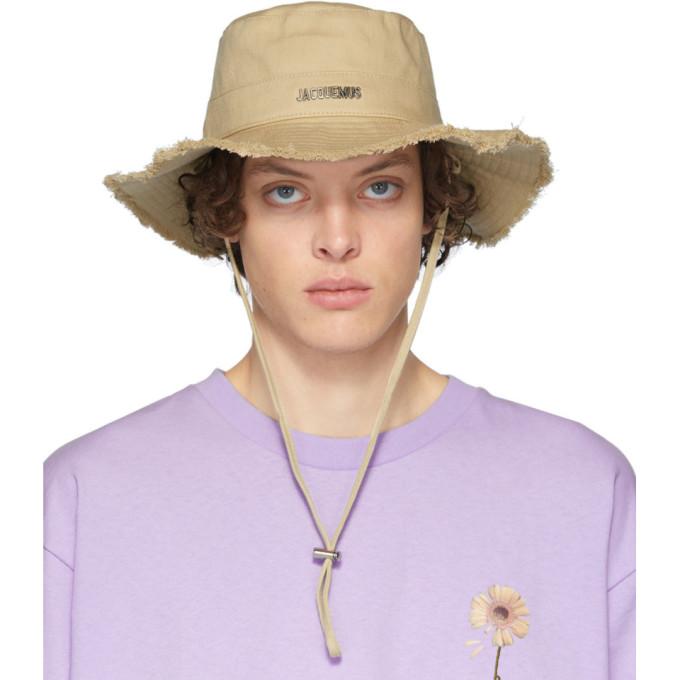 Jacquemus Hats JACQUEMUS BEIGE LE BOB ARTICHAUT BUCKET HAT