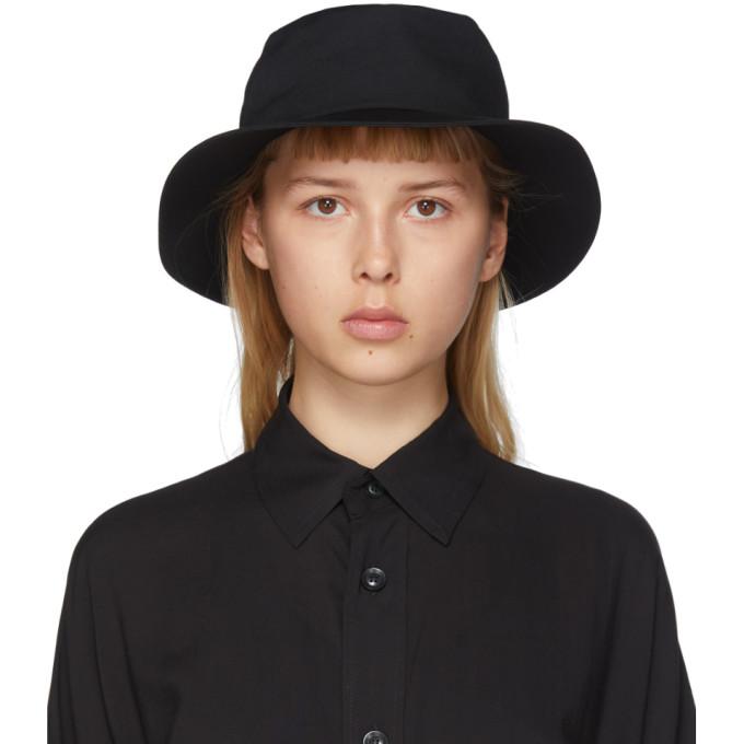 Yohji Yamamoto Chapeau noir Croche Gather