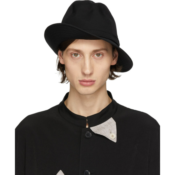 Yohji Yamamoto Chapeau en laine noir