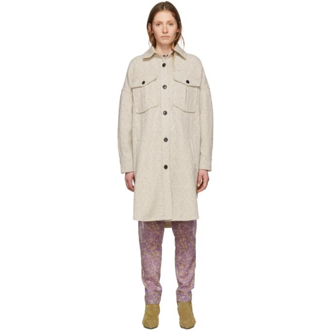 Etoile オフホワイト ウール Obira コート