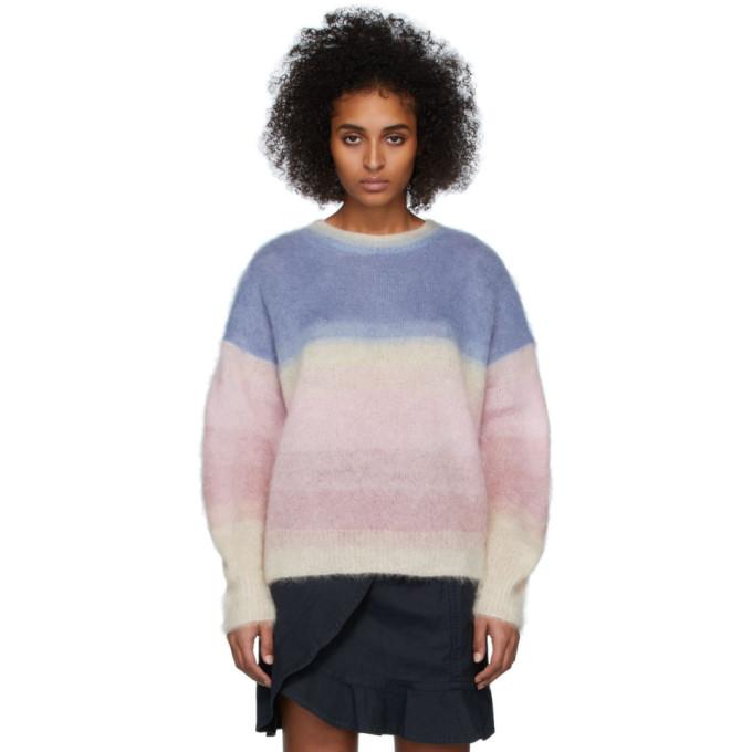 Etoile Isabel Marant Isabel Marant Etoile Multicolor Drussell Sweater In 30bu Blue