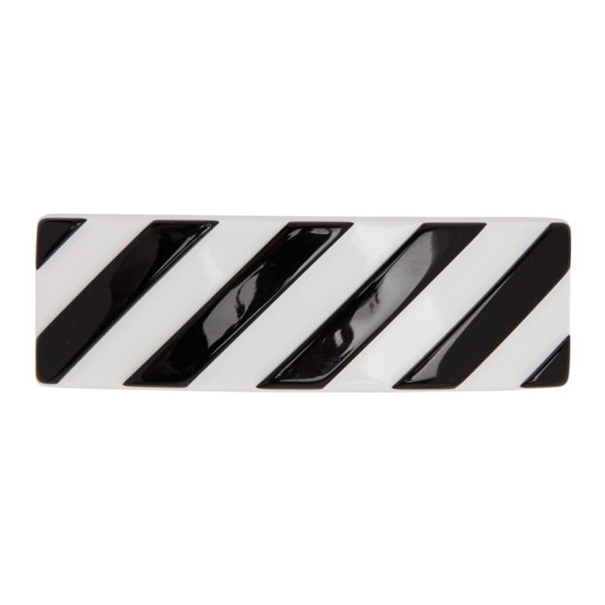 Off-White Pince a cheveux blanche et noire Diag