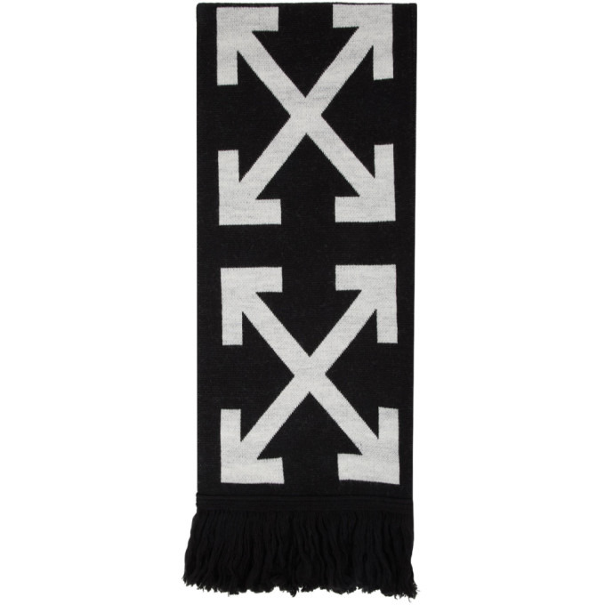 Off-White Jewelry OFF-WHITE BLACK LEOPARD ARROWS SCARF