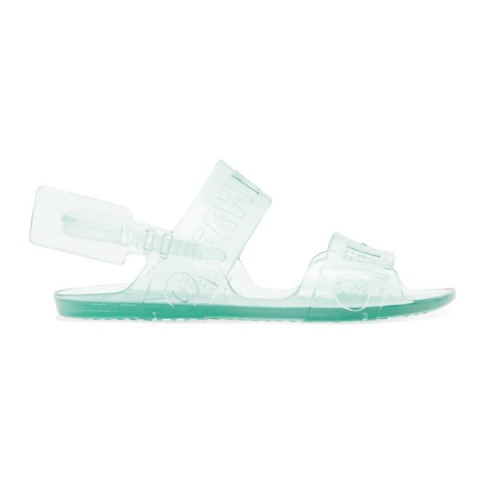 Buy Off-White Blue Jelly Zip-Tie Sandals online