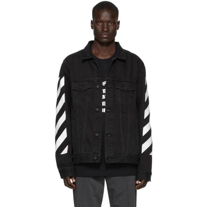 SSENSE Exclusive Black Denim Temperature Jacket