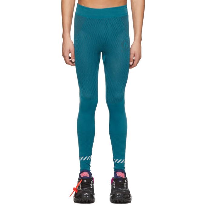 Off-White Legging sans coutures bleu Running