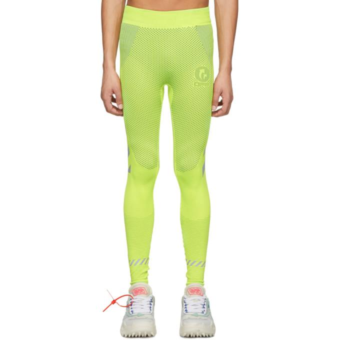 Off-White Legging sans coutures jaune Running