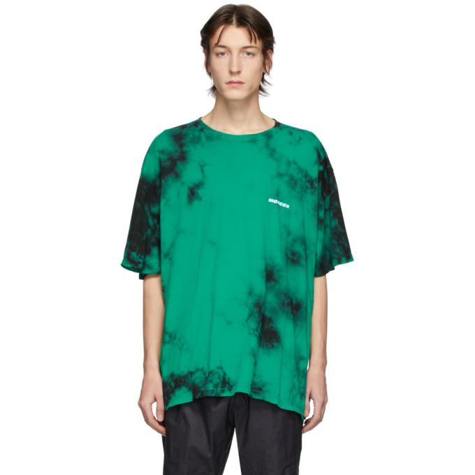 Off-white Green & Black Tie-dye T-shirt In Mint