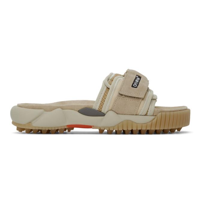 Off-white Beige Oddsy Minimal Slider Sandals In Beige/no Color